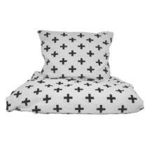 Bavlnené posteľné obliečky So Homely pluses, 160 x 200 cm