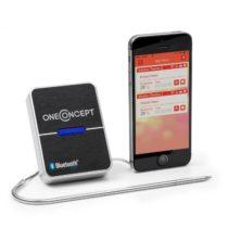OneConcept Meatmaster, bluetooth 4.0, teplomer na pečenie a grilovanie, senzor