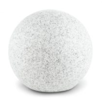 Lightcraft Shinestone S, záhradné svietidlo, guľovité, 20 cm, vzhľad kameňa
