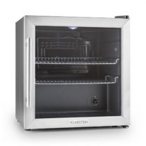 Klarstein Beersafe L, chladnička s objemom 50 litrov, energet. trieda B, sklenené dvere, nerezová oc...