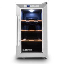 Klarstein Reserva Piccola, chladnička na víno na 8 fliaš, trieda B, drevené poličky