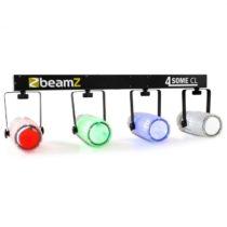 Beamz 4-Some Clear, štvorica LED-reflektorov, RGBW DMX mikrofón