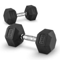 Capital Sports Hexbell 25 Dumbbell, pár jednoručných činiek, 25 kg