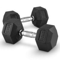 Capital Sports Hexbell 30 Dumbbell, pár jednoručných činiek, 30 kg
