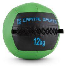 Capital Sports Wallba 12, zelený, 12 kg, wall ball, syntetická koža