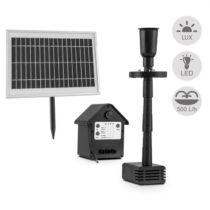 Blumfeldt Wasserwerk 500, vodné čerpadlo, solárne, fontána, 500 l/h, LED, akumulátor