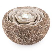 Blumfeldt Rosewater, záhradná fontána, LED, 36 x 19 cm, čerpadlo, vzhľad prírodného kameňa