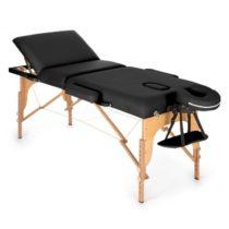 KLARFIT MT 500, čierny, masážny stôl, 210 cm, 200 kg, sklápací, jemný povrch, taška