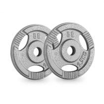 Capital Sports IP3H 2.5, šedé, závažie na činky, pár, 30 mm, 2,5 kg, otvory na uchopenie