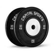 Capital Sports Inval, súťažné bumper kotúče, hliníkové jadro, pár 2 x 10 kg