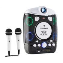 Auna Kara Projectura, čierno-sivý, karaoke systém sprojektorom, LED svetelná show