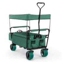 Waldbeck The Green Supreme, ručný vozík, skladací, 68 kg, strieška proti slnku
