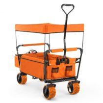 Waldbeck The Orange Supreme, ručný vozík, skladací, 68 kg, strieška proti slnku