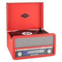 Auna Epoque 1907, retro audio systém, gramofón, bluetooth, MC, USB, CD, AUX