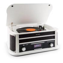 Auna Belle Epoque 1908 DAB, biely, retro stereo systém, gramofón, DAB+, bluetooth