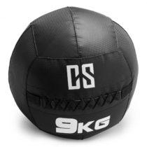 Capital Sports Bravor Wall Ball medicinbal PVC dvojité švy 9kg čierna farba