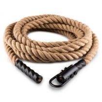 Capital Sports Power Rope H4 s háčikmi 4m 3,8cm konope kyvadlové lano háčik