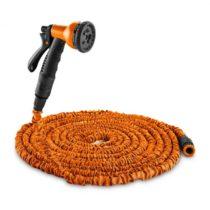 Waldbeck Water Wizard 30, flexibilná záhradná hadica, 8 funkcií, 30 m, oranžová