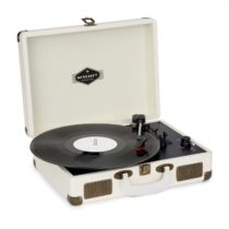 Auna Nostalgy by auna Peggy Sue retro gramofón platne USB AUX krémová/vzhľad mosadze