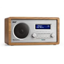 Auna Harmonica DAB+/FM rádio duálny alarm AUX LCD drevená konštrukcia orech