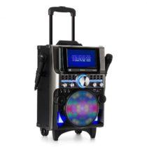 Auna DisGo Box 360, BT karaoke systém, 2 mikrofóny, HDMI, BT, LED, USB, kolieska, čierny