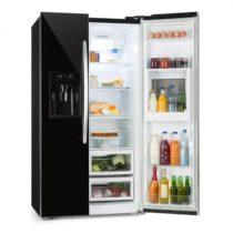 Klarstein Grand Host XXL, chladnička s mrazničkou, 550 litrov, dávkovač ľadu a vody, A+, čierna farb...