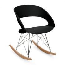 OneConcept Travolta, hojdacia stolička, retro, PP-konštrukcia sedacej časti, brezové drevo, čierna f...