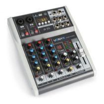 Vonyx VMM-K402 4-kanálový hudobný mixážny pult, bluetooth, USB-Audio-Interface