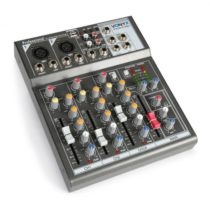 Vonyx VMM-F401 4-kanálový hudobný mixážny pult, USB prehrávač, AUX-IN, +48V fantómové napájanie