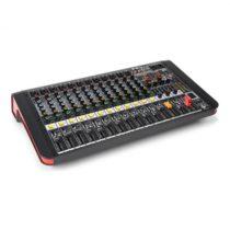 Power Dynamics PDM-M1204A, mixážny pult, 12 mikrofónových vstupov, multi FX-procesor, USB prehrávač