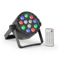Beamz PLS25 Par, LED reflektor, 12 x 1 W RGBW LED diód, akumulátor, diaľkový ovládač