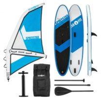 KLARFIT Spreestar WM, nafukovací paddleboard, SUP-Board-Set, 300x10x71, modro-biela farba
