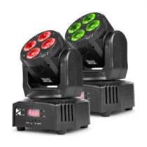 Beamz MHL36, movinghead, pohyblivá hlavica, LED efekt, 2 kusy, 4 x 9W, RGBW, 4v1 LED, 4 show, čierna...
