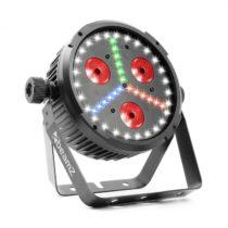 Beamz BX30, PAR LED reflektor 3x10W 4in1, 27x SMD W, 18x SMD RBG LEDs, čierna farba