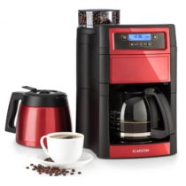 Klarstein Aromatica II Duo, kávovar, zabudovaný mlynček, 1,25 l, červený