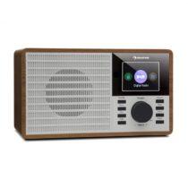 "Auna DR-160 BT, DAB+/FM rádio, USB, AUX, 2.4"" TFT displej, drevo"