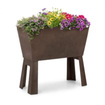 Blumfeldt Mammutgrow Flex, vyvýšený záhon, 75 x 70 x 35 cm, UV ochrana a ochrana pred mrazom, hnedý