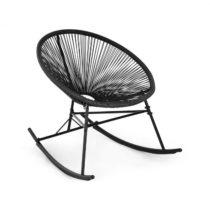 Blumfeldt Roqueta Chair, hojdacie kreslo, retro dizajn, 4 mm pletivo, čierne