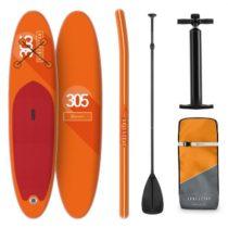 KLARFIT Spreestar, nafukovací paddleboard, SUP-Board-Set, 305 x 10 x 77 cm, oranžový