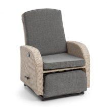 Blumfeldt Comfort Siesta Luxury, kreslo, nastaviteľné operadlo, časť na nohy, svetlosivá farba