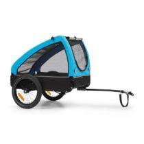 KLARFIT Husky, príves na bicykel pre psov, cca 250L, 600D, Oxfortdské plátno, modrý
