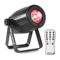 Beamz PS21W, LED pin-spot, reflektor, 12 W, 4 v 1 LED RGBW, IR diaľkový ovládač, čierny