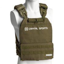 Capital Sports Battlevest 2.0, záťažová vesta, 2 x 4,0 kg závažie, olivovozelená