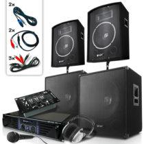 Skytec Bass Mountain USB, DJ PA systém, 2000 W, 4 x reproduktor, zosilňovač, mixážny pult