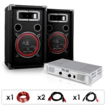 "Electronic-Star DJ PA SET ""DJ-15"" PA zosilňovač, SPEAKER, 1000W"