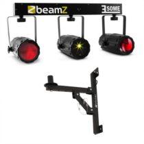 Beamz 3-Some, trojica RGBW LED svetiel, Multibodový laser mikrofón