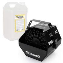 Beamz B500, strojový bublifuk + mydlová kvapalina do bublifuku 5 l