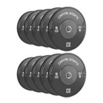 Capital Sports Resilior dropable plate, sada 5 párov kotúčových závaží po 5 kg, tvrdá guma