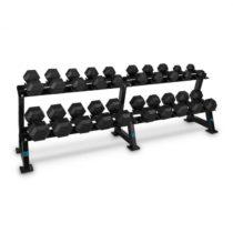 Capital Sports Dumbbell Rack Set, stojan na činky, sada, 20 miest, 10 x pár činiek