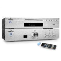"""Auna """"Elegance Tower Bluetooth"""", strieborná, 2.0 HiFi zostava, MP3-CD prehrávač + zosilňovač 600 W"""